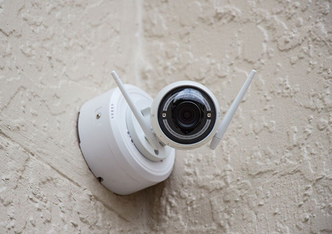 photo of a surveillance camera